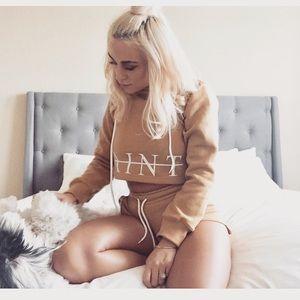 Mustard Saint Lux sweater and short set